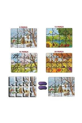 Diytoy 4'lü Puzzle Mevsimler 2