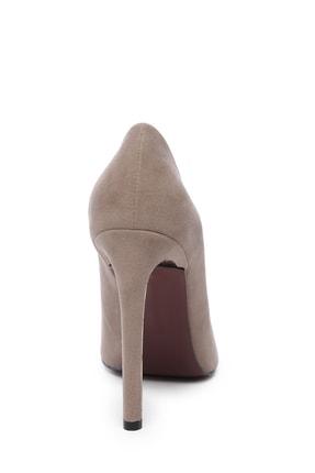 Kemal Tanca Bej Kadın Vegan Klasik Topuklu Ayakkabı 22 2000 BN AYK 2