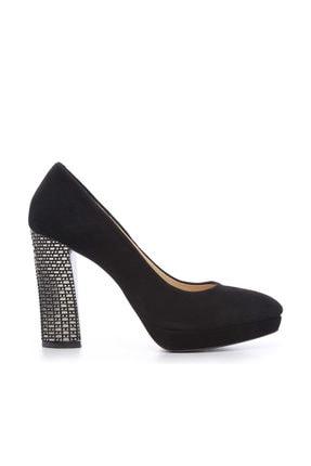 Kemal Tanca Siyah Kadın Vegan Klasik Topuklu Ayakkabı 22 2048 BN AYK 0