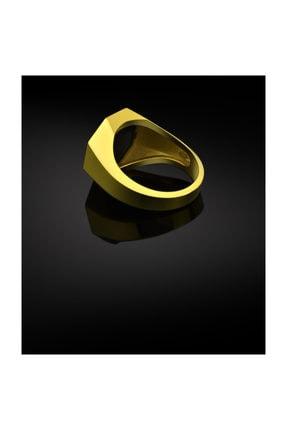 Bysilverstone Aslan Altın Kaplama Gümüş Erkek Yüzük 1