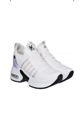 Guja Kadın Beyaz Gizli Topuk Yüksek Taban Sneaker 2