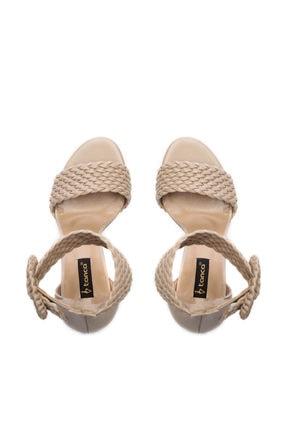 Kemal Tanca Hakiki Deri Bej Kadın Klasik Topuklu Ayakkabı 299 10595 02 BN AYK Y19 3