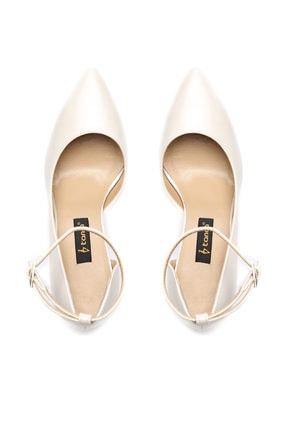 Kemal Tanca Beyaz Kadın Vegan Klasik Topuklu Ayakkabı 22 319 BN AYK 3