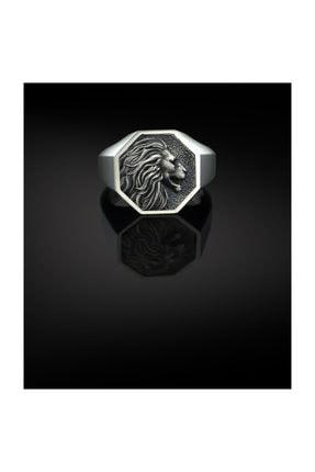 Bysilverstone Gümüş Aslan Geometrik Erkek Yüzük 0