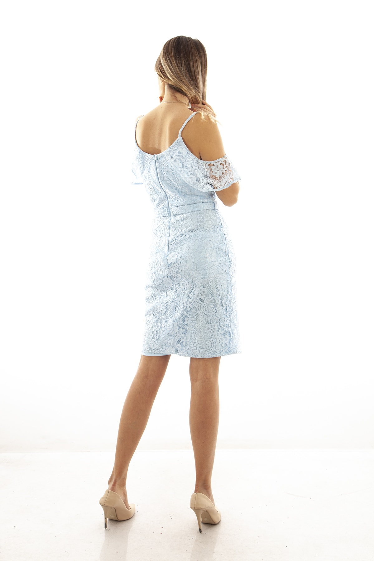Ardanewline Kadın Mavi Elbise 130122-10 2