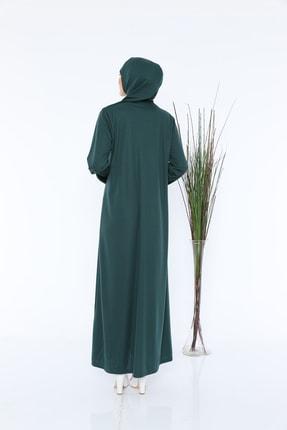 medipek Zümrüt Yeşili Fermuarlı Tek Parça Namaz Elbisesi 3