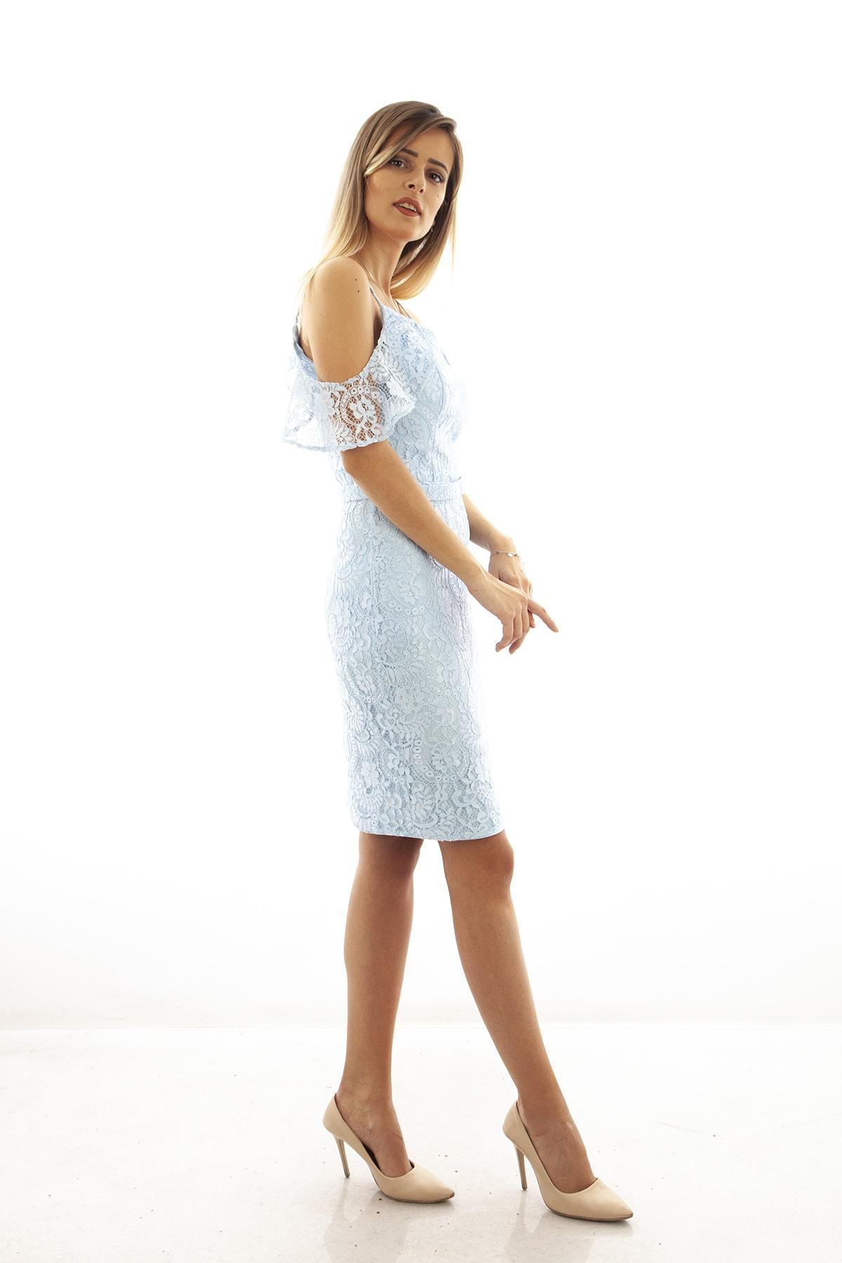 Ardanewline Kadın Mavi Elbise 130122-10 3
