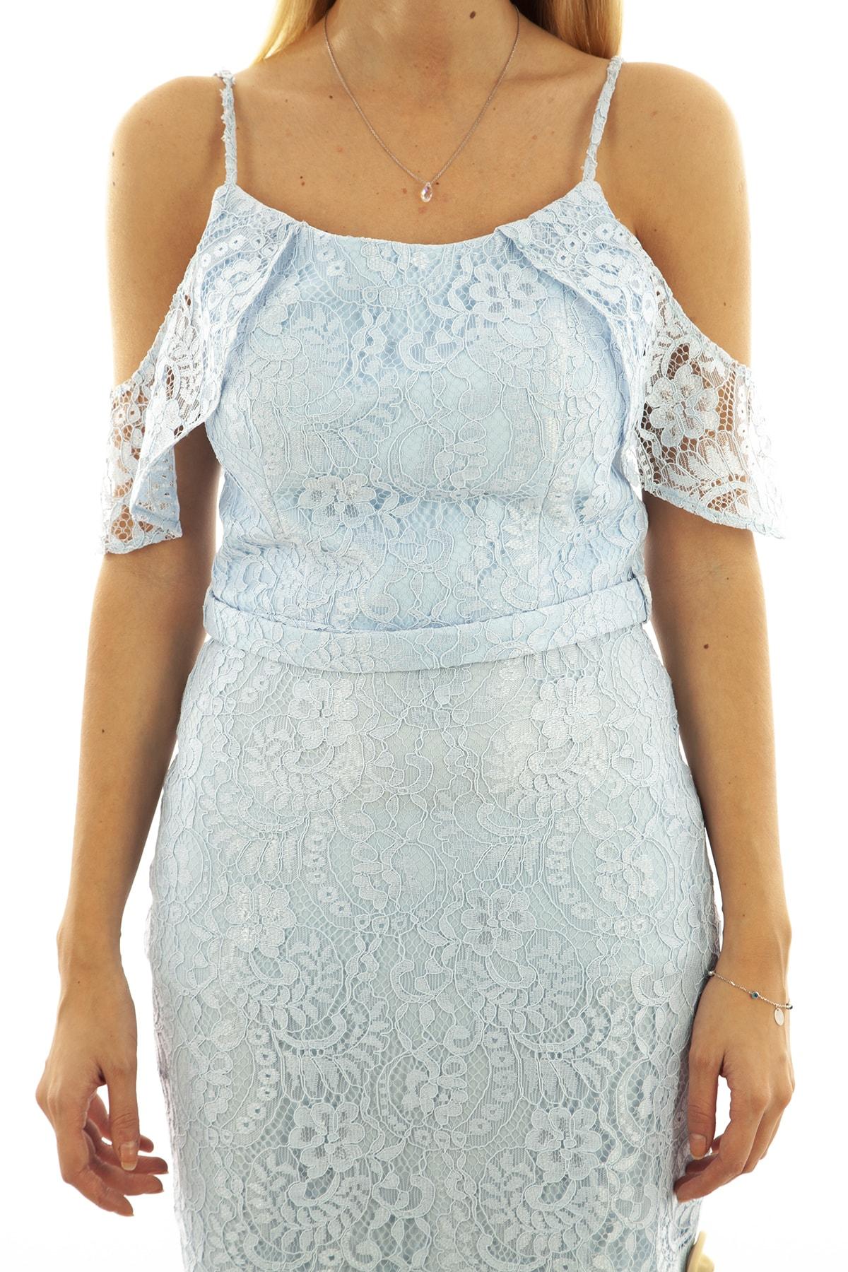 Ardanewline Kadın Mavi Elbise 130122-10 1