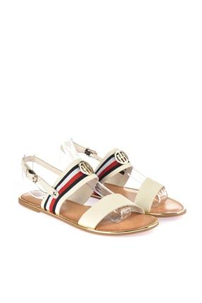 Tommy Hilfiger Kadın Corporate Ribbon Flat Sandalet FW0FW02811 0