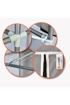 Prado Easy Çelik Profilli Çift Yandan Raflı Bez Dolap 2