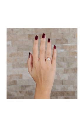 Tesbihane Zirkon Taşlı Spider Tasarım Rose Renk 925 Ayar Gümüş Bayan Yüzük 1