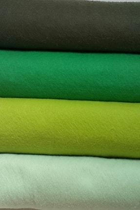 ByOzras Yeşilli Tonlar İnce Keçe - 4 Renk - 50x50 cm - Hobi Malzemesi 0
