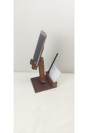 dunyalarvar Iroko Ahşap Masa Üstü Telefon Tutucu Stant Masaüstü Tablet Tutacak Şarj Stand Telefontutucu 1