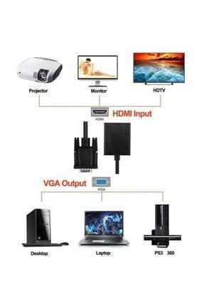 MAXGO Vga To Hdmi Kablo Dönüştürücü Görüntü Ve Ses Çevirici Hdmı Bst-2067p 0