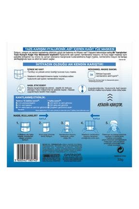 Garnier Taze Karışım Kağıt Yüz Maskesi Hyaluronik 3'lü Set 86905958239422 2