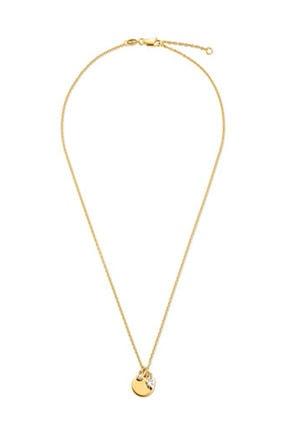 Tchibo Zirkon Taşlı Gümüş Zincir Sarı Altın 95850 1