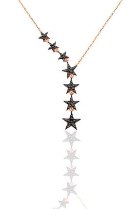 Söğütlü Silver Kadın 925 Ayar Gümüş Kuyruklu Yıldız Onix Taşlı Kolye SGTL3512 0