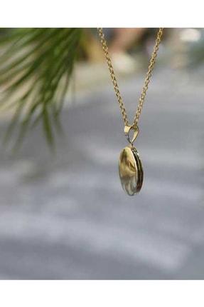 Reis Kuyumculuk Kadın Elips Madalyon Sarı Altın Kolye T488. 4