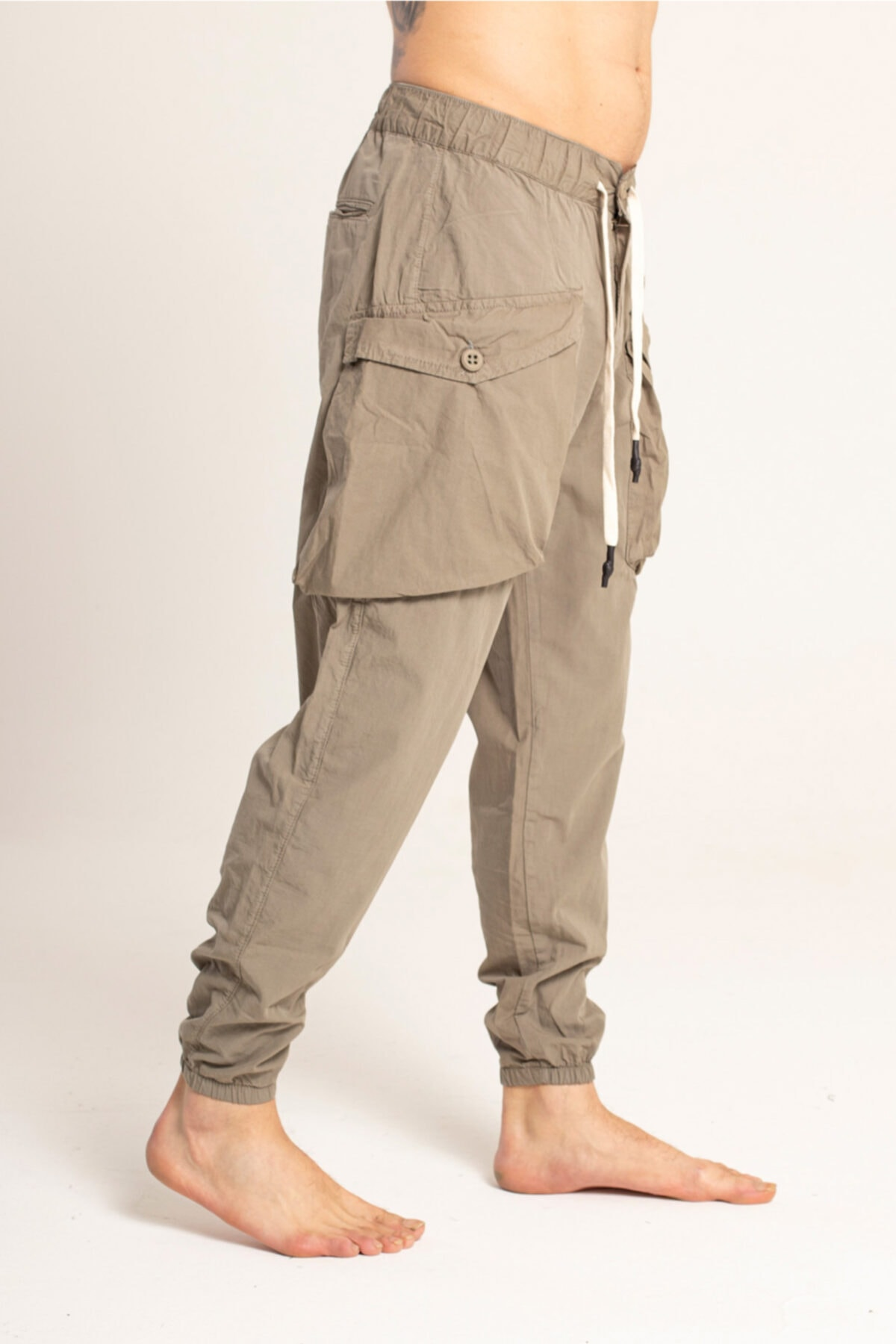 Erkek Haki Jogger Pantolon 3944-g