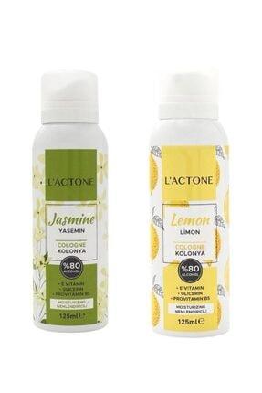 L'ACTONE Kolonya Yasemin Çiçeği 125 Ml+limon 125 Ml (2 Li Kampanyali Set) 0