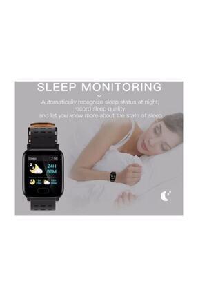 King A6 Smart Watch Akıllı Saat Suya Dayanıklı Nabız Ölçer Mavi 3