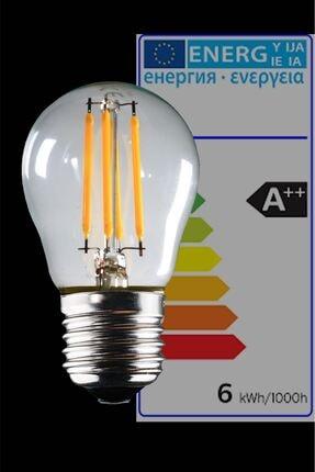 Luzarana E27 G45 6 Watt Gün Işığı Standart Tip Filament Edison Tip Rustik Led Top Ampül (HEKA) 1