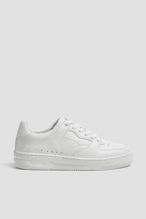 Pull & Bear Kadın Beyaz Tek Renk Spor Ayakkabı 11307540 0