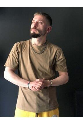 EmekGelinlikEvi Unisex Zeytin Yeşili Düz OversizeT-shirt 0