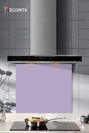 Decorita Düz Renk - Lila | Cam Ocak Arkası Koruyucu   | 52cm x 60cm 0
