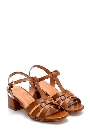 Derimod Kadın Taba Topuklu Sandalet 2