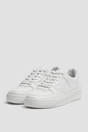 Pull & Bear Kadın Beyaz Tek Renk Spor Ayakkabı 11307540 3