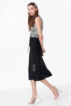 Twist Kadın Siyah Desenli Tshirt TS1200070052001 4