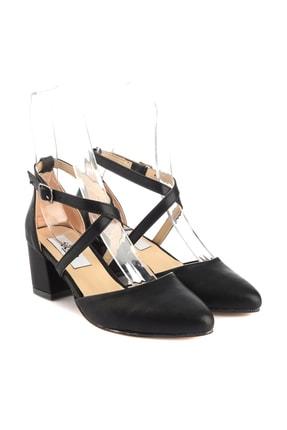Soho Exclusive Siyah Mat Kadın Klasik Topuklu Ayakkabı 14392 3