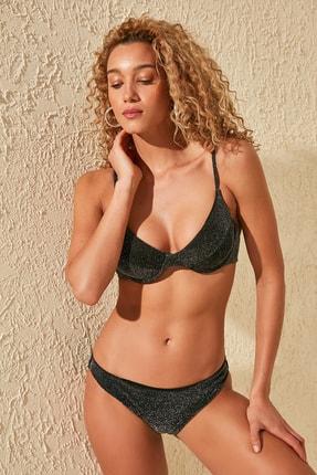 TRENDYOLMİLLA Siyah Parlak  Bikini Altı TBESS20BA0214 0