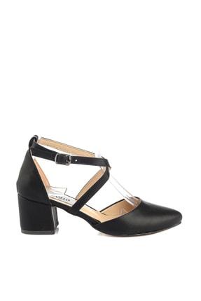 Soho Exclusive Siyah Mat Kadın Klasik Topuklu Ayakkabı 14392 4