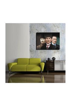 mağazacım Atatürk 3'lü Portre 50 Cm X 70 Cm Kanvas Tablo Tbl1223 1