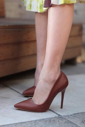 TRENDBU AYAKKABI Kahverengi Kadın Topuklu Ayakkabı 2