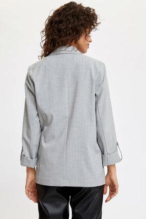 Defacto Kadın Gri Katlamalı Kol Blazer Ceket N5050AZ.20SP.GR138 3