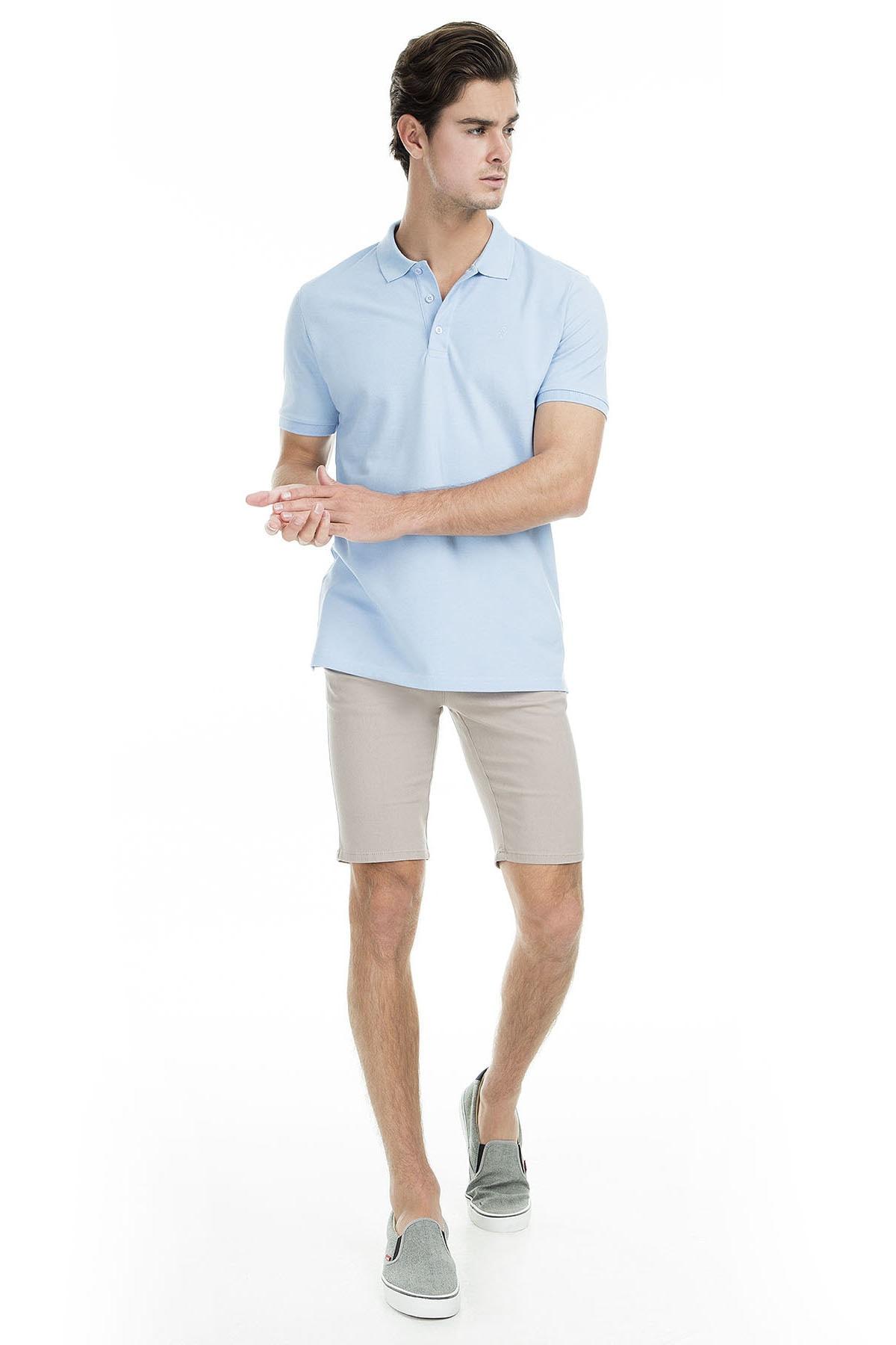 Sabri Özel Erkek Açık Mavi Polo Yaka T-Shirt - T446688 4