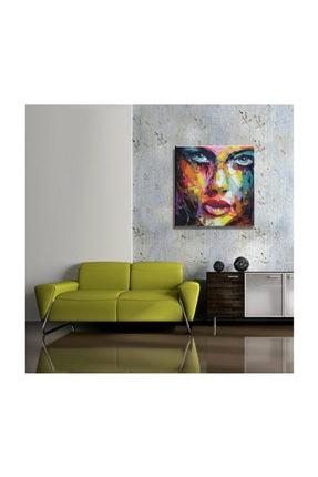 mağazacım Anonim Soyut Kadın Portre Yağlı Boya Reprodüksiyon 50 cm X 50 cm Kanvas Tablo Tbl1015 1