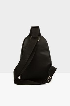 Bagmori Siyah Kadın Çapraz Logolu Saten Çanta M000004138 3