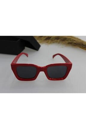 ModaLand New Mia Kare Kadın Kırmızı Güneş Gözlüğü 2