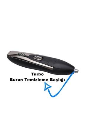 yopigo (siyah) Turbo X-go Saç Sakal Kesme Traş Makinesi Burun Kılı Alma 3in1 Pro Model Erkek Bakım Seti 2