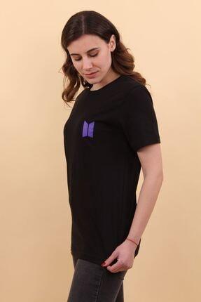 Lena Butik Bts Ön Arka Baskılı T-shirt 1