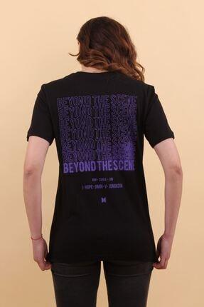 Lena Butik Bts Ön Arka Baskılı T-shirt 2