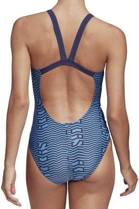 adidas Kadın Mavi Lınage S Yüzücü Mayosu Fj4522 Sh3.ro 1