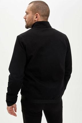 Defacto Erkek Siyah Slim Fit Fermuarlı Hırka N5381AZ.20SP.BK27 4