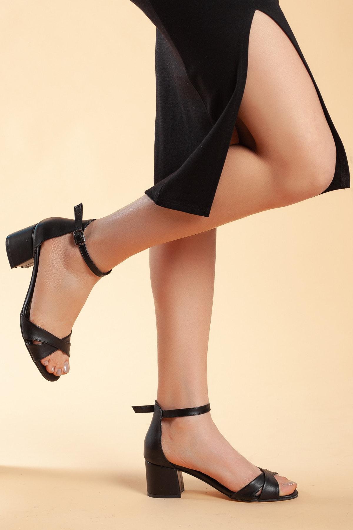 Daxtors Siyah Kadın Ayakkabı DXTRFLRN204 1