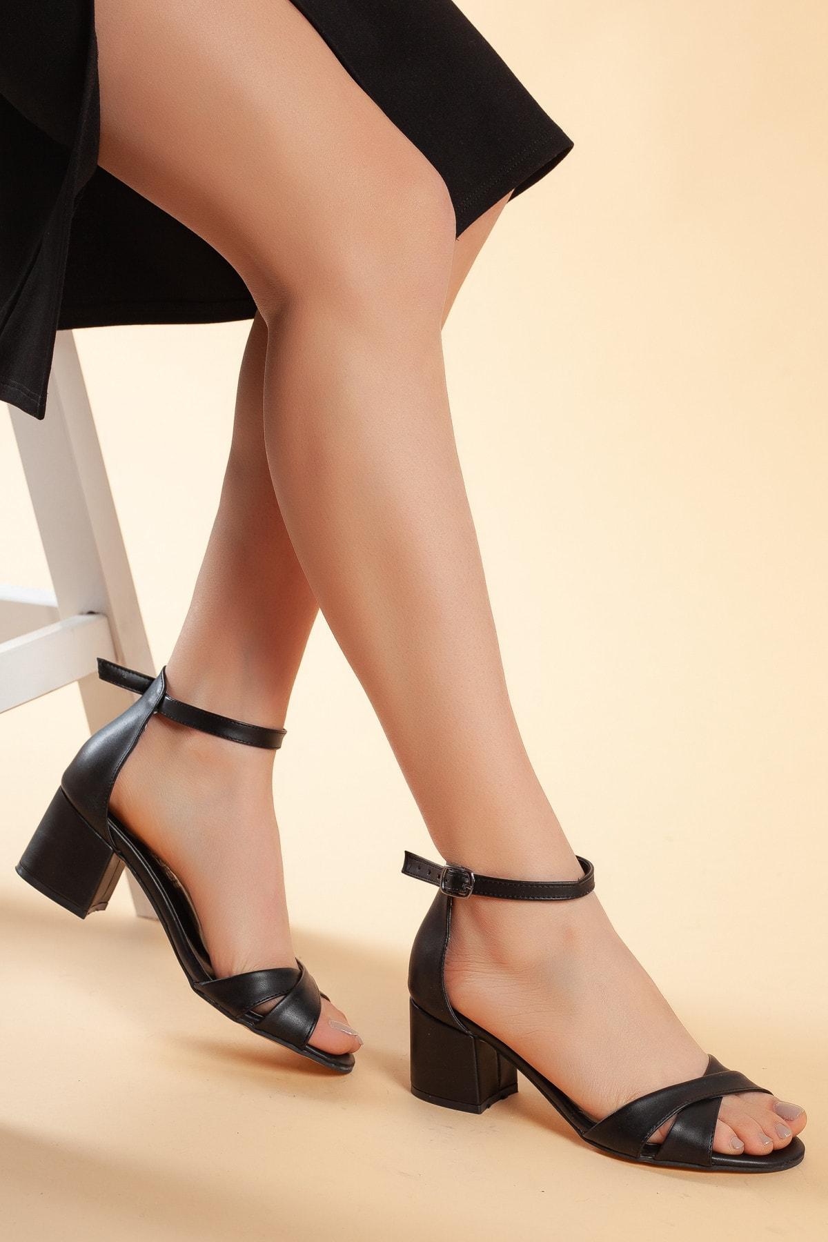 Daxtors Siyah Kadın Ayakkabı DXTRFLRN204 0