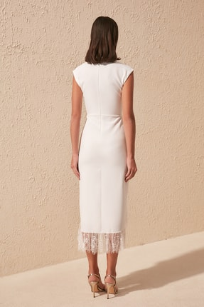 TRENDYOLMİLLA Ekru Yaka Detaylı  Elbise TPRSS20EL1427 4